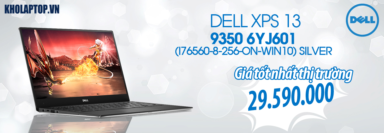 DELL XPS 13 9350 6YJ601 (I76560-8-256-ON-WIN10) SILVER