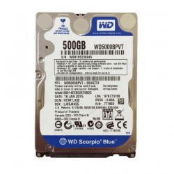 Western Digital 500GB @5400rpm SATA 2.5HDD for Laptop